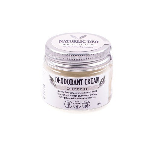 Naturlig Deo, doftfri och parfymfri deodorant