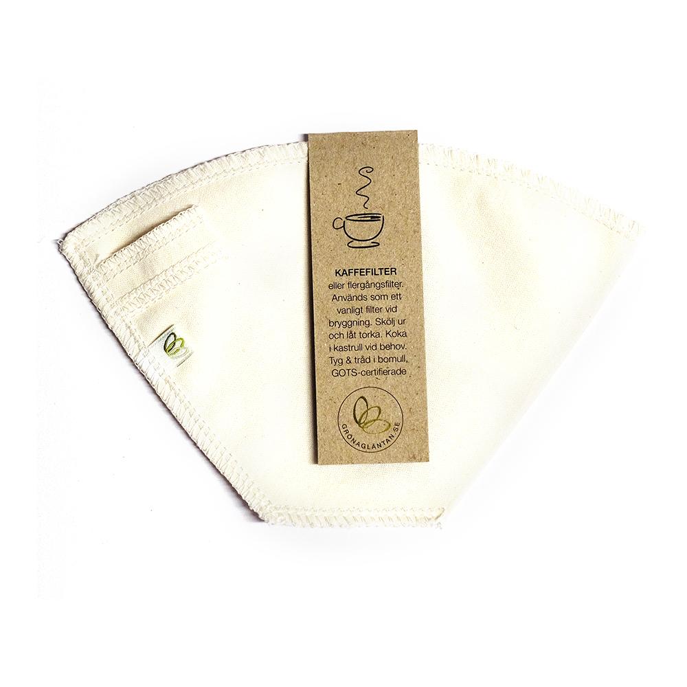 Flergångs kaffefilter i ekologisk bomull , kaffefilter i tyg