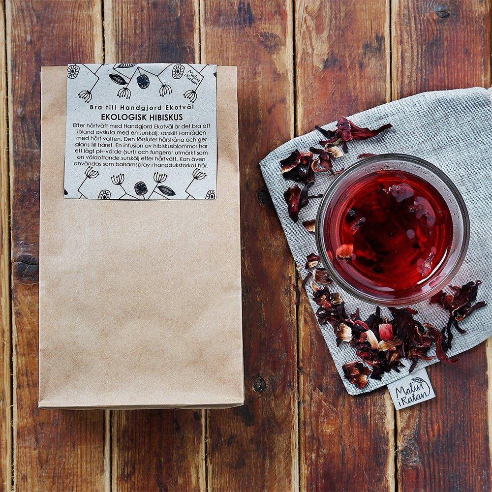 Ekologiskt hibiskus- surskölj och te miljöbild