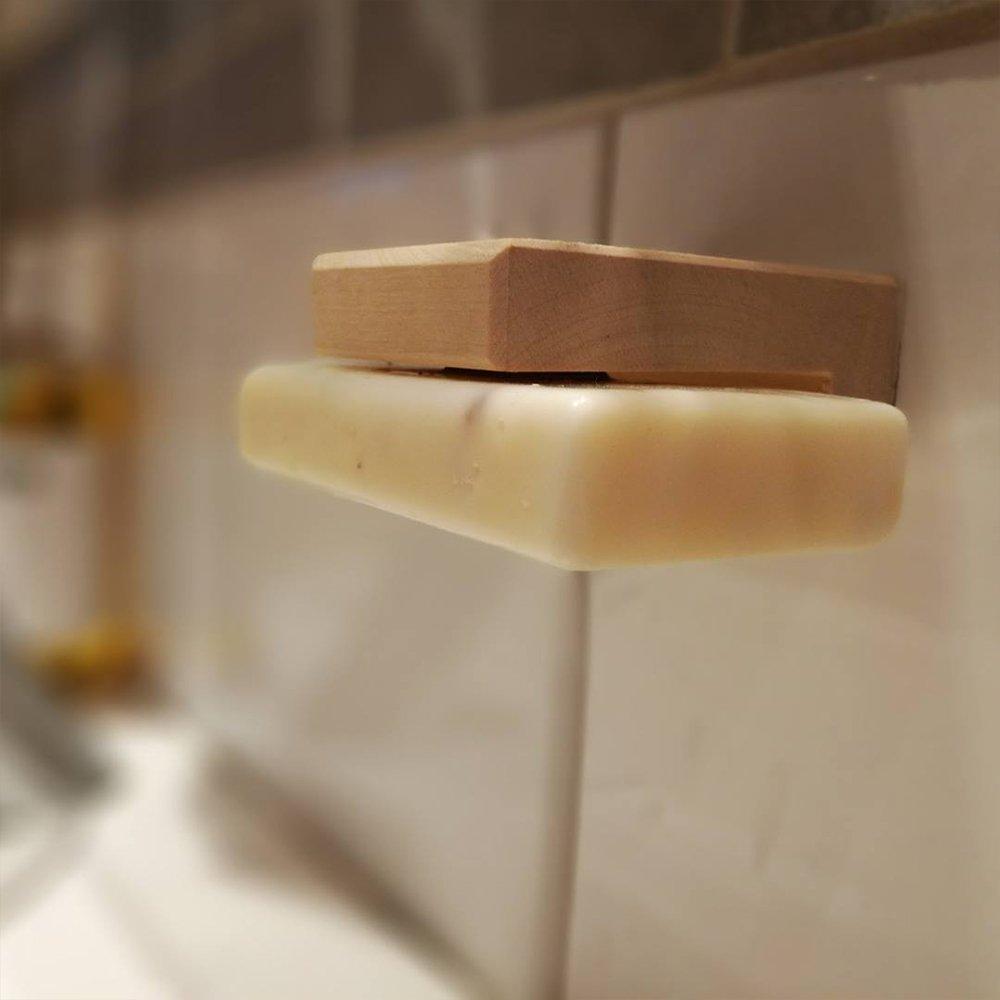 Tvålhängare med tvål