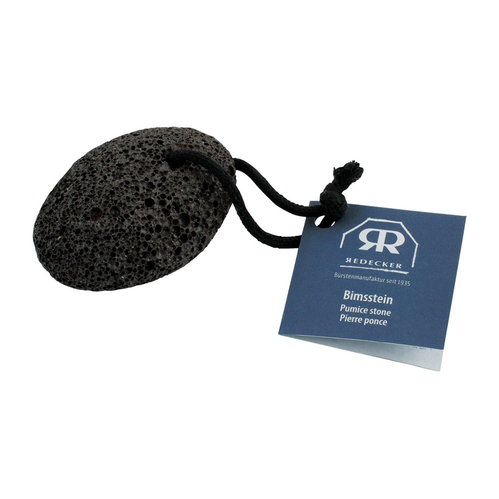 Pimpsten, naturlig fotfil av lavasten, svart
