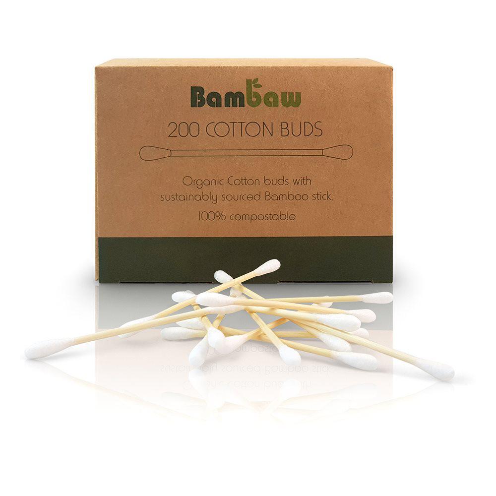 Ekologisk tops bambaw ekologiska bomullspinnar