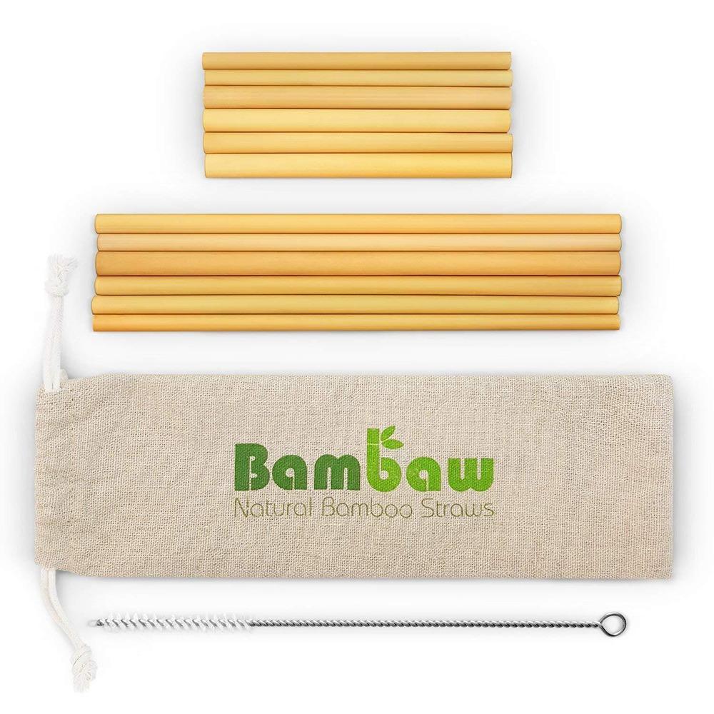 Ekologiska sugrör i bambu