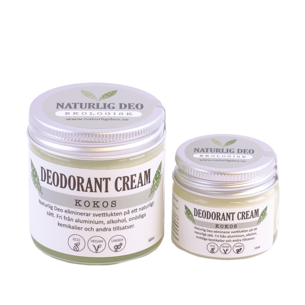 Naturlig Deo Ekologisk Deodorant Kokos, Parfymfri deo