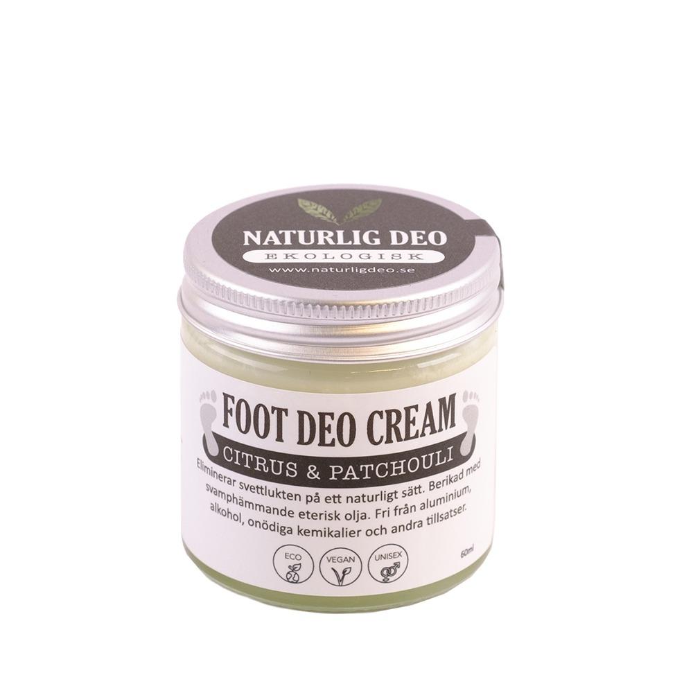 Naturlig Deo Ekologisk Foot Deo Cream