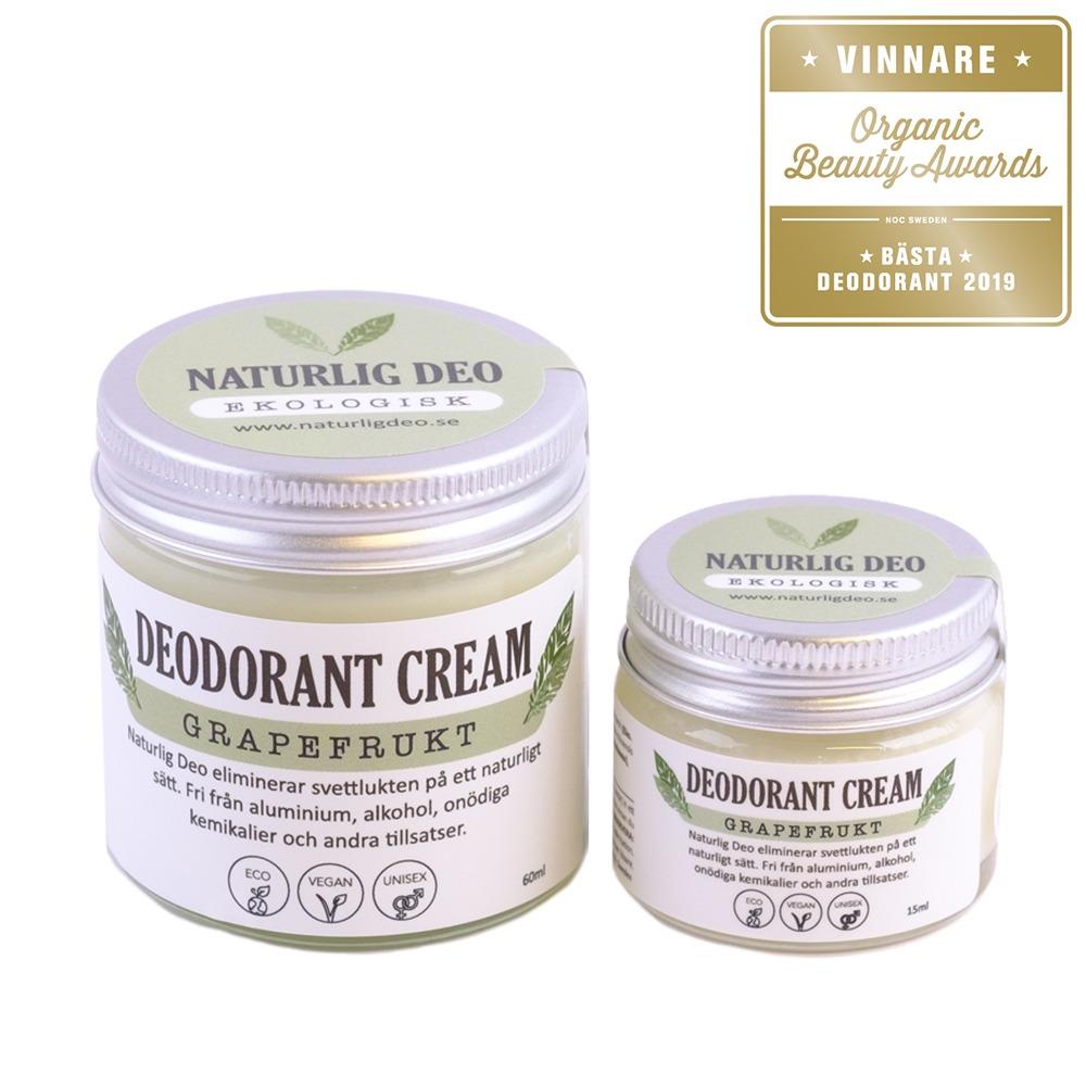 Naturlig Deo Grapefrukt stor och liten - Bästa Deodorant 2019
