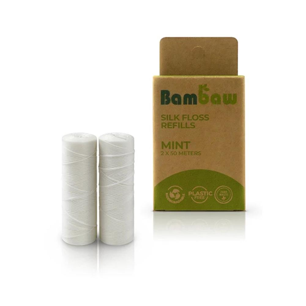 Miljövänlig tandtråd refill Silke – Bambaw