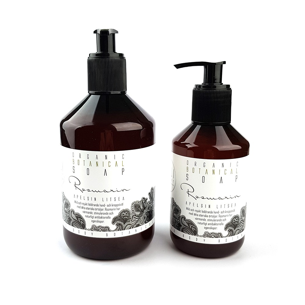 Ekologisk flytande tvål, Rosmarin Apelsin & litsea 500ml och 250ml - Kaliflower Organics