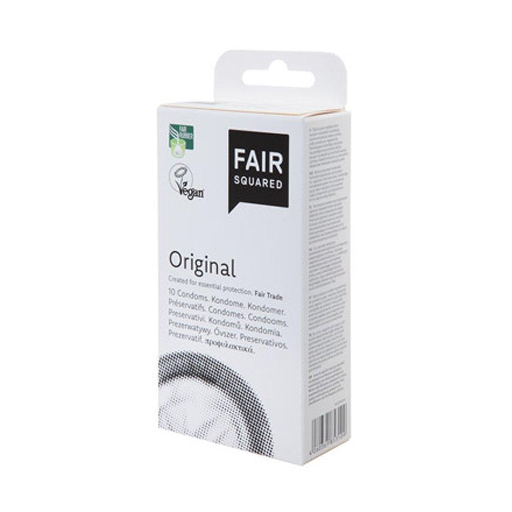 Veganska kondomer i naturgummi, Original, 10st - Fair Squared