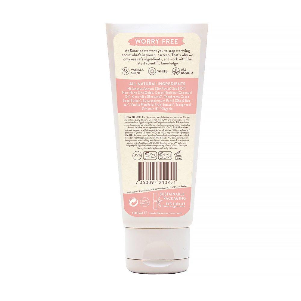 Suntribe Barn Solkräm, Mineral Kids Vanilla Sunscreen SPF 30 innehållsförteckning