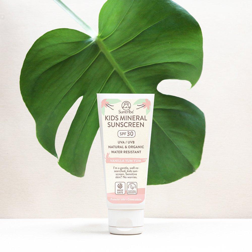 Suntribe Barn Solkräm, Mineral Kids Vanilla Sunscreen SPF 30 miljöbild