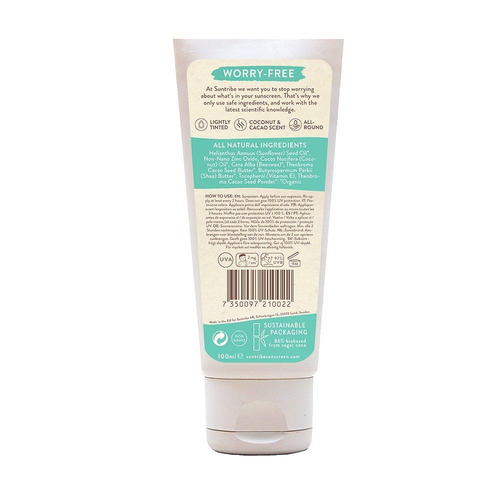 Suntribe Solkräm, Mineral Body & Face Sunscreen SPF 30 100 ml innehållsförteckning