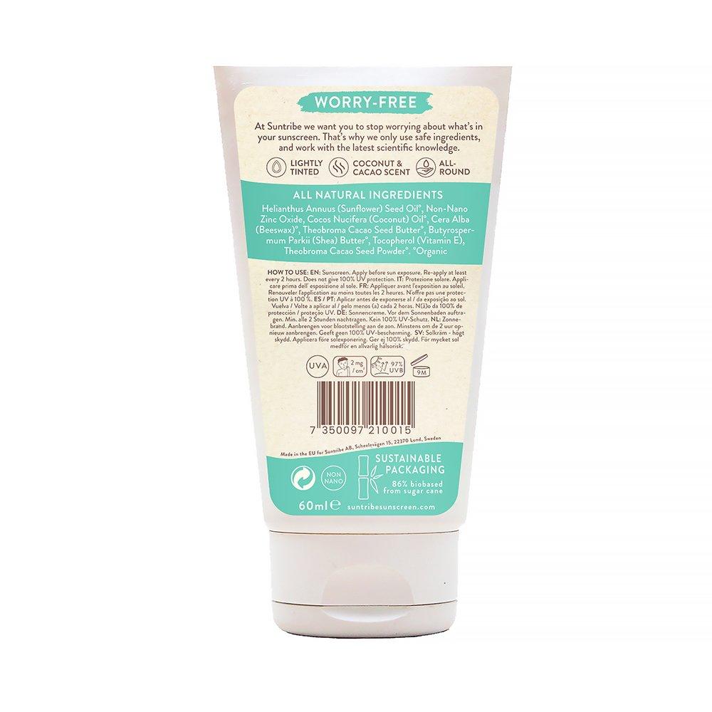 Suntribe Solkräm, Mineral Body & Face Sunscreen SPF 30 60 ml innehållsförteckning
