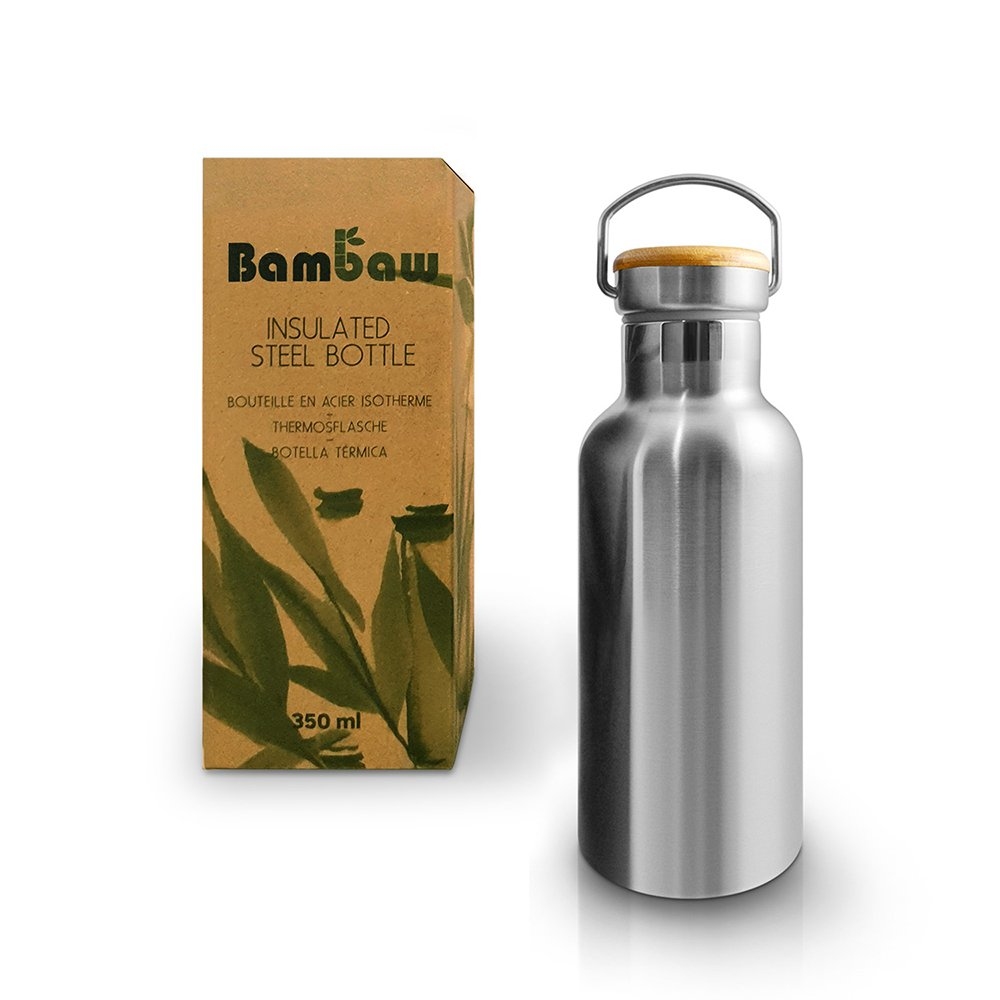 Isolerad flaska i rostfritt stål 350 ml - Bambaw