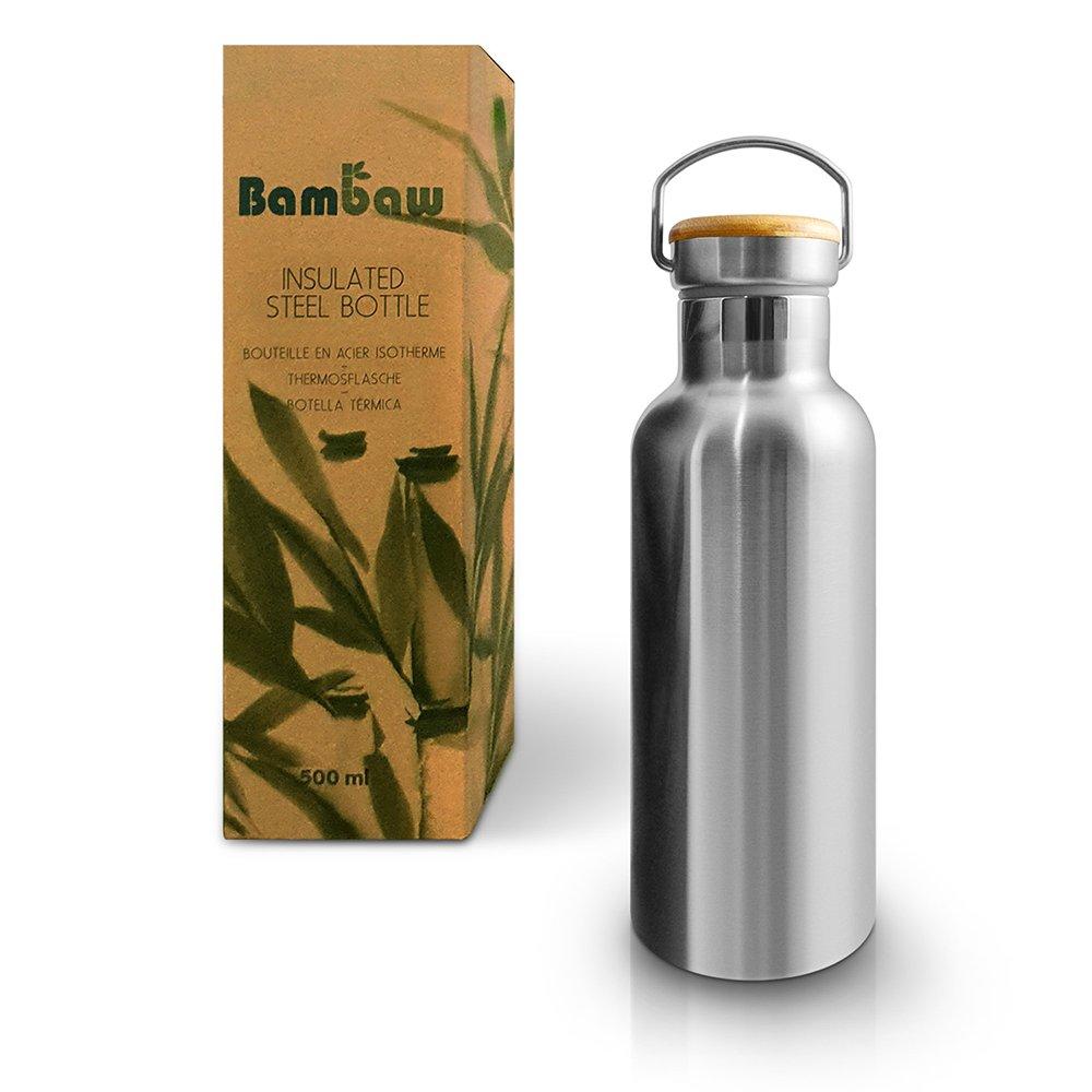 Isolerad flaska i rostfritt stål 500 ml - Bambaw