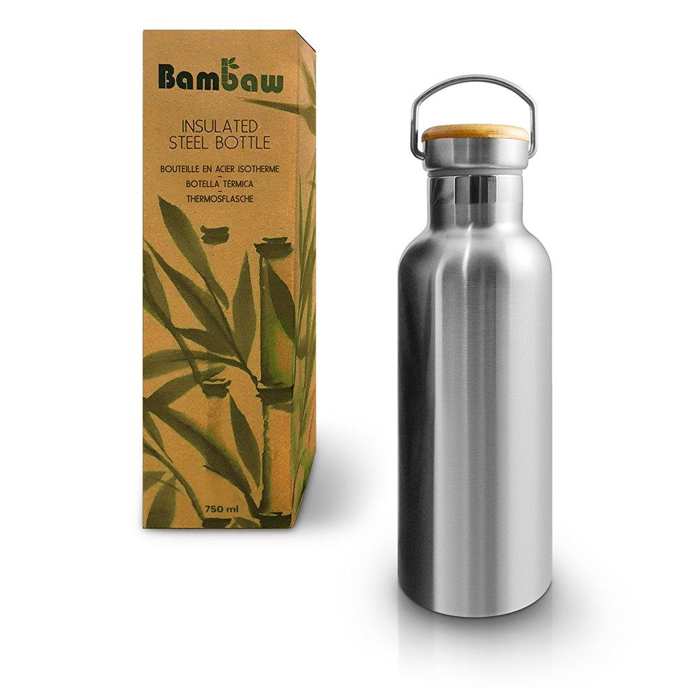 Isolerad flaska i rostfritt stål 750 ml - Bambaw