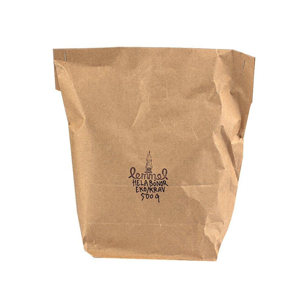 KRAVmärkta och ekologiska hela kaffebönor, mörkrostade 500g - Lemmelkaffe
