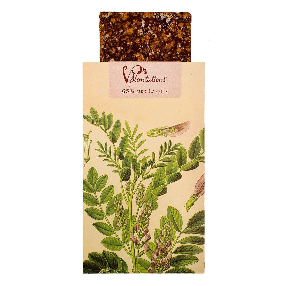 Norrländsk choklad 65% med Lakrits - Vintage plantations