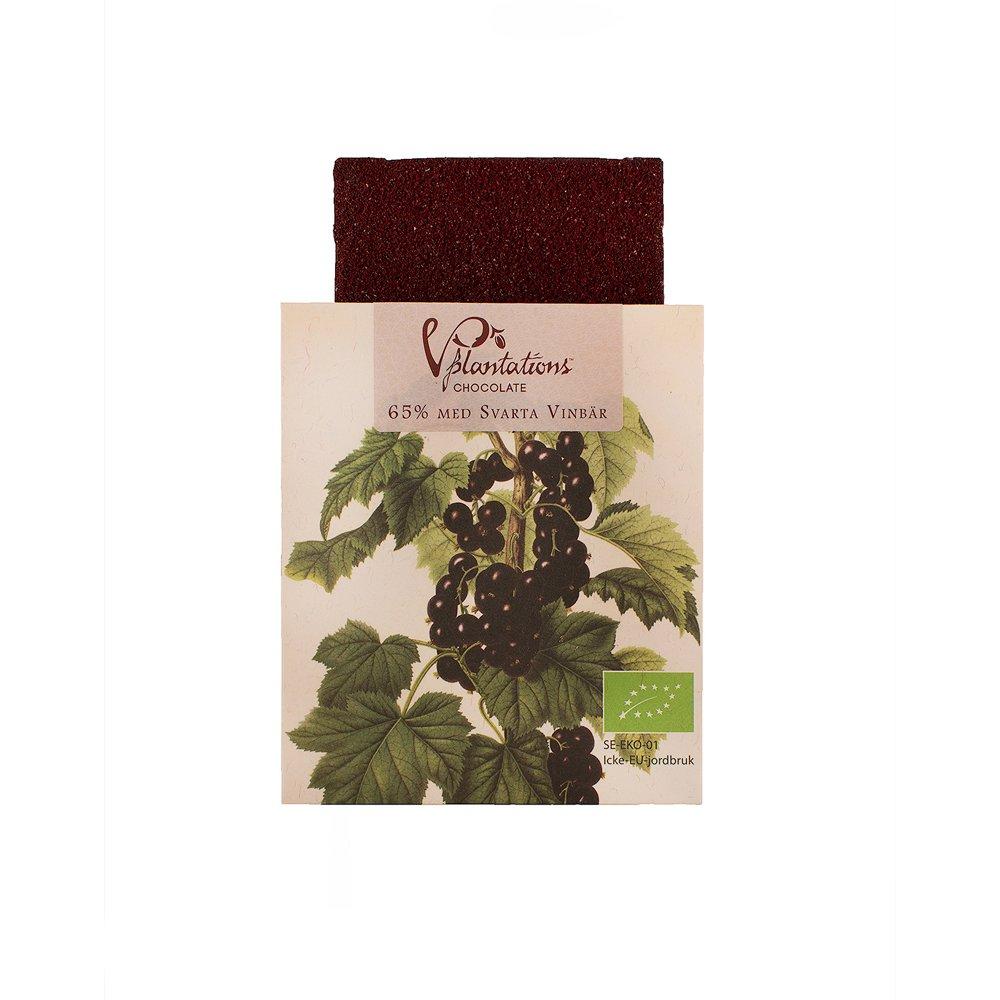Norrländsk choklad 65% med Svarta Vinbär 35g - Vintage plantations