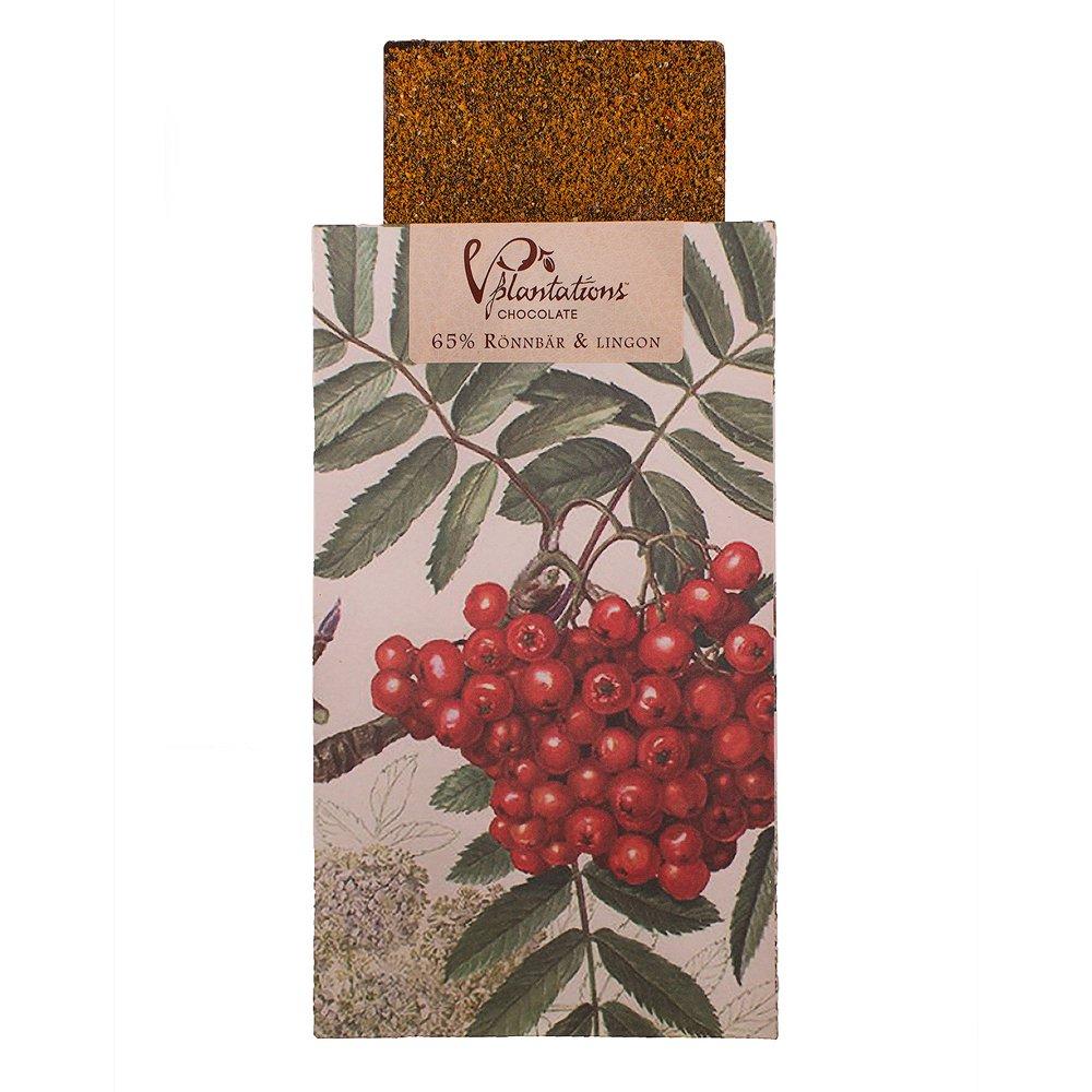 Norrländsk choklad 65% Rönnbär och lingon - Vintage plantations