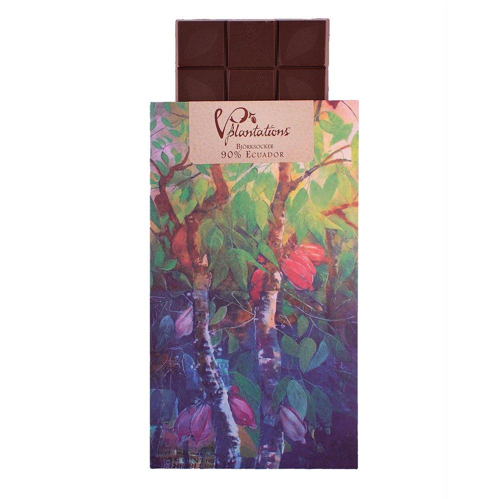 Norrländsk choklad 90% sötad med Björksocker - Vintage plantations