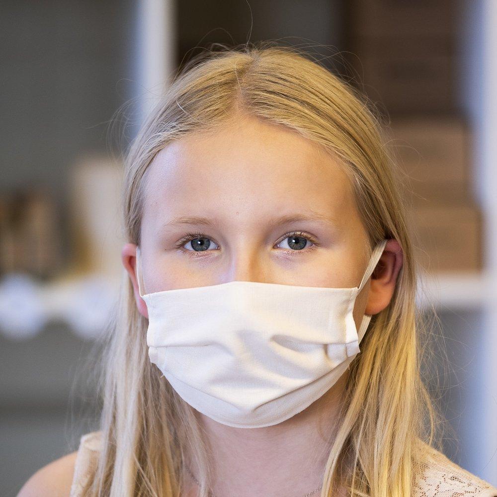 Tvättbart munskydd för Barn i GOTSmärkt bomull exempel- Stella Sews