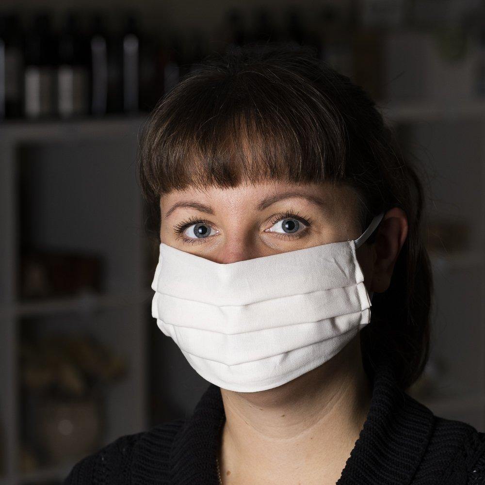 tvättbart munskydd i GOTSmärkt bomull ansikte