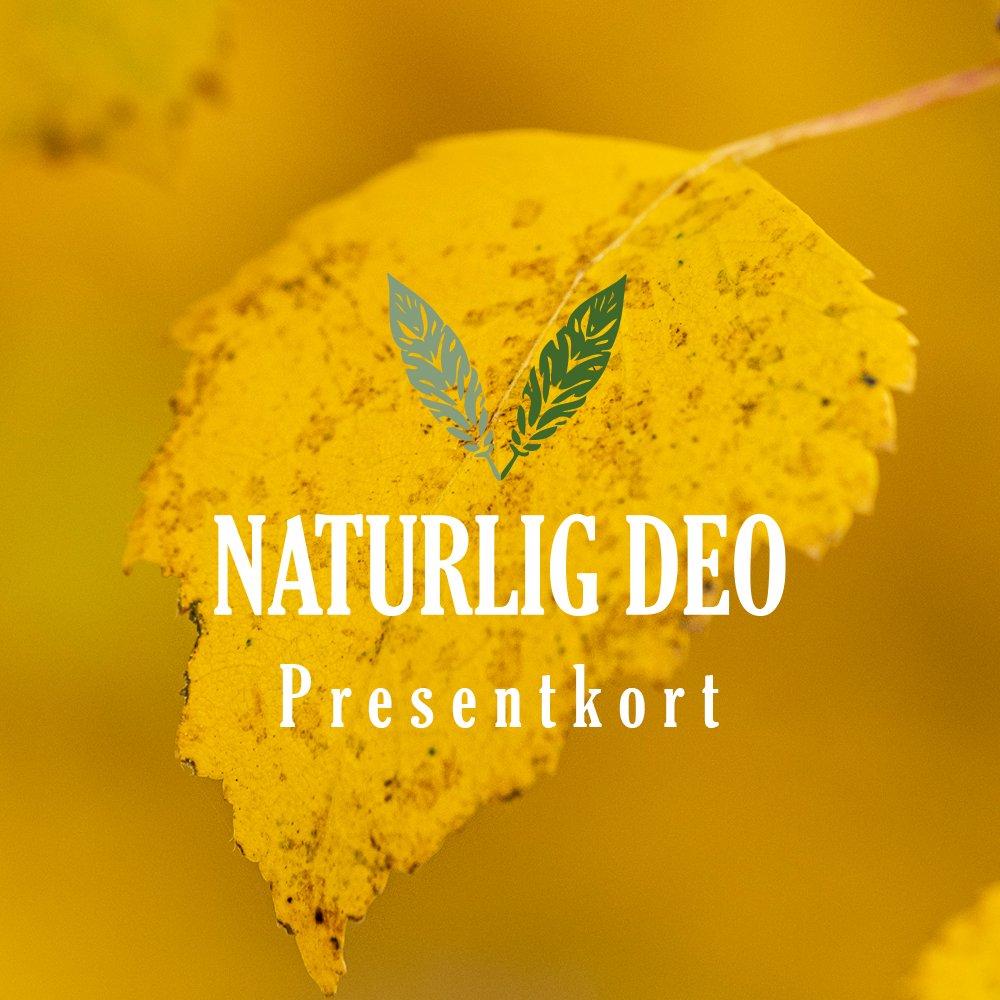 Presentkort Naturlig Deo höst gult löv