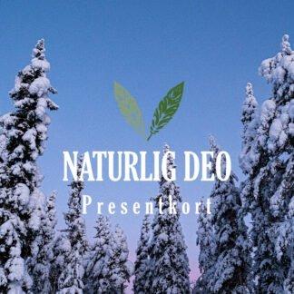 Presentkort Naturlig Deo Norsjö vinter träd