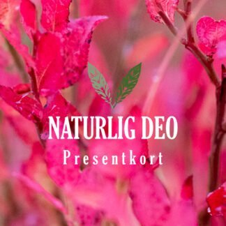Presentkort Naturlig Deo rosa
