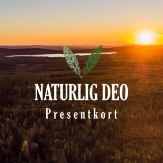 Presentkort Naturlig Deo sommar skog sol