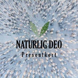 Presentkort Naturlig Deo vinter träd ovanifrån