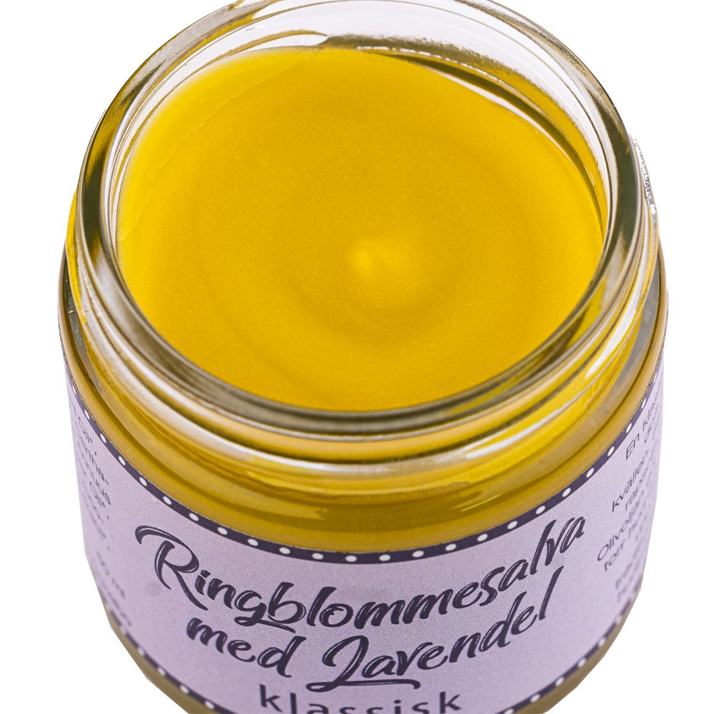 Ringblommesalva med lavendel 60ml innehåll Ockelbo bi
