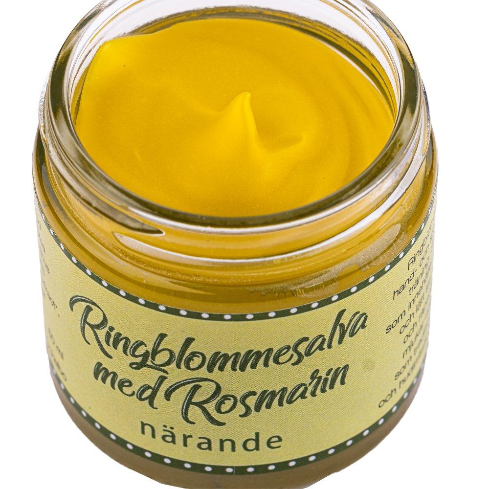 Ringblommesalva med rosmarin 60ml innehåll Ockelbo bi