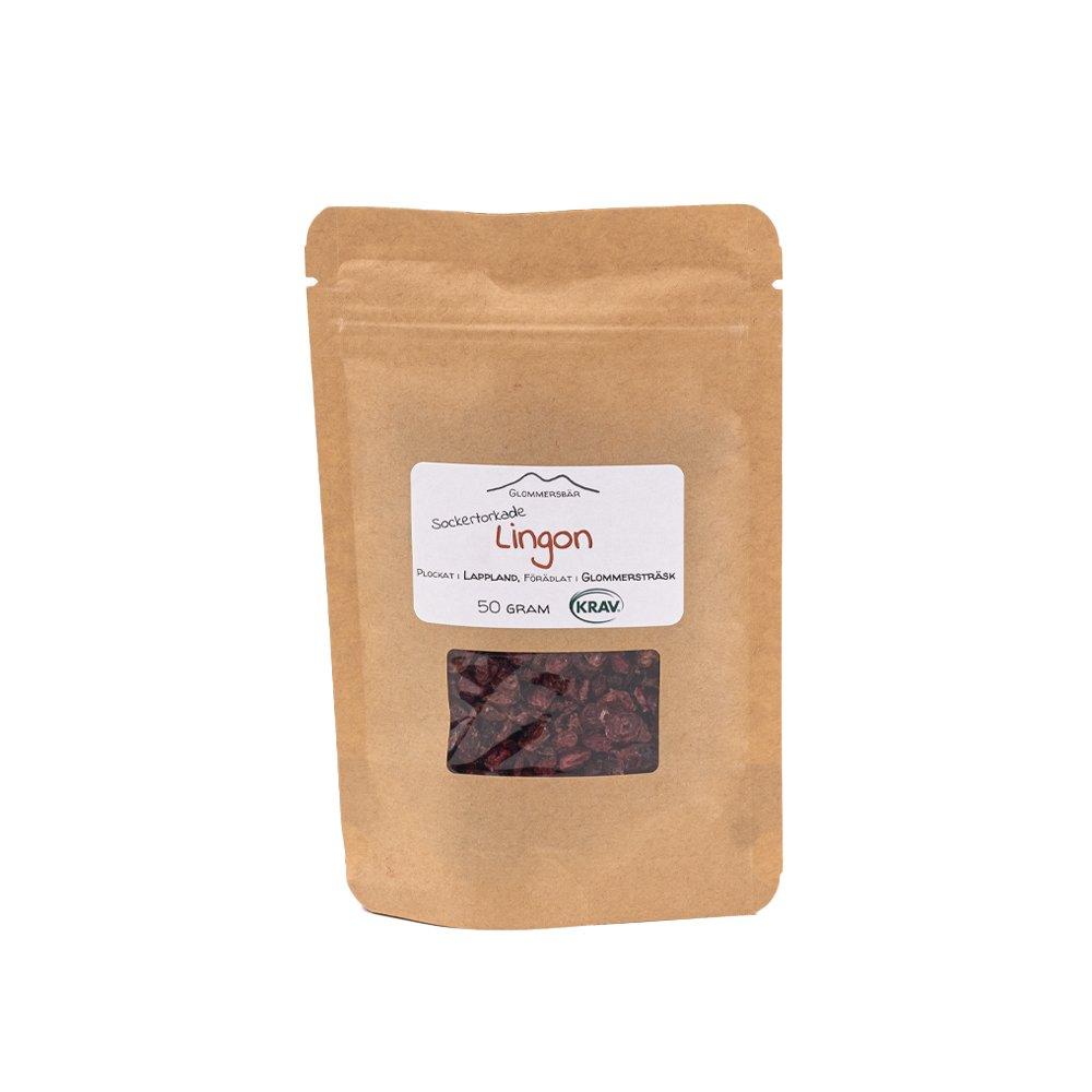 Sockertorkade Lingon - Glommersbär