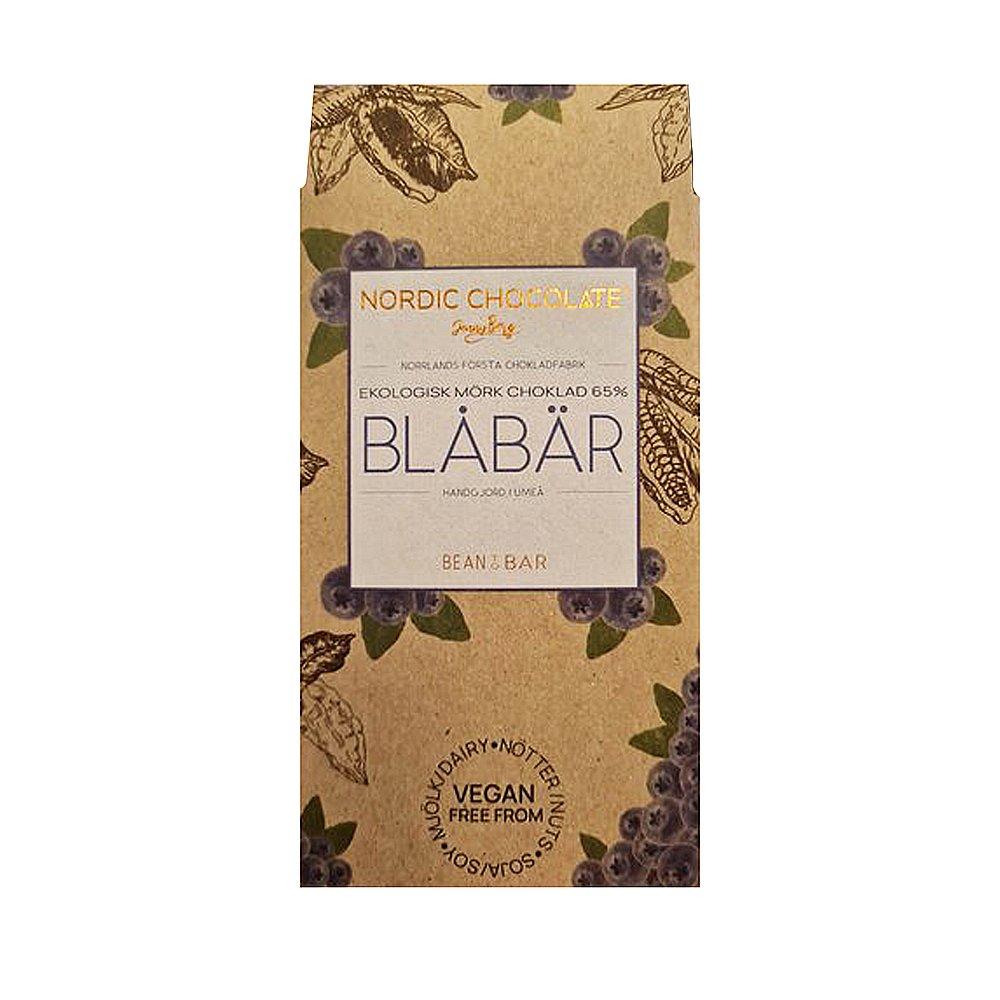 Norrländsk Choklad 65% med Blåbär - Nordic Chocolate