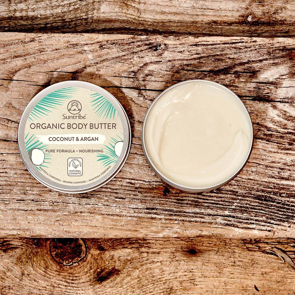 Naturlig Body Butter Kokos & Argan öppet lock - Suntribe