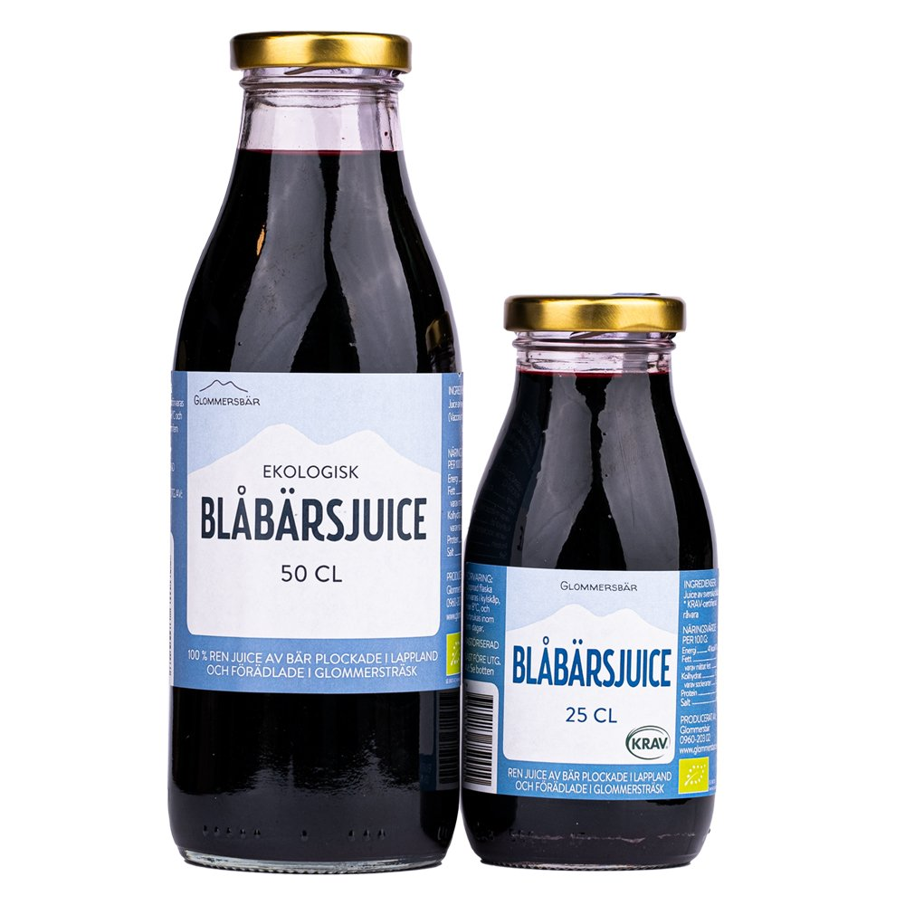 Blåbärsjuice - Glommersbär